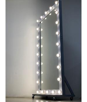 Гримерное зеркало на подставке во весь рост серое 200х100